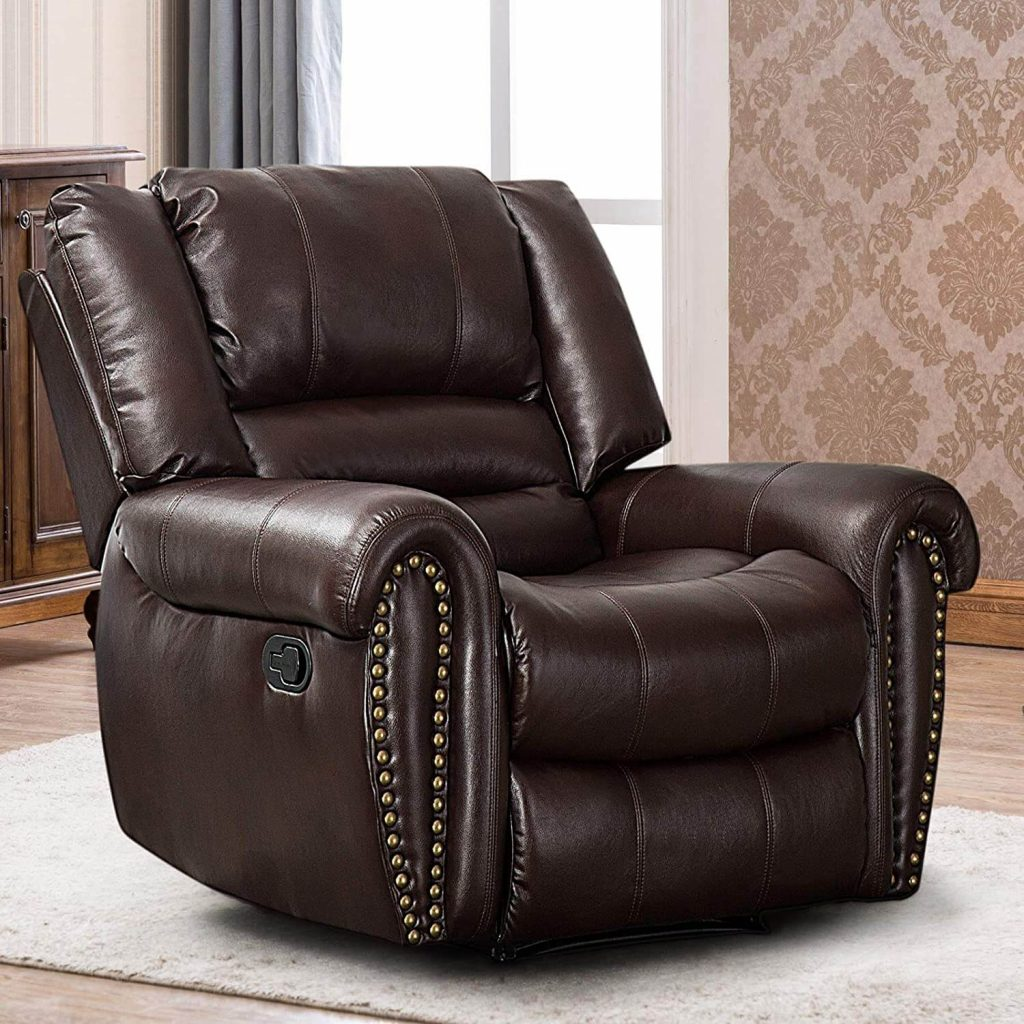 CANMOV Leather Recliner for big guy