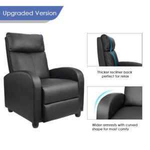 Homall Recliner Chair Padded Seat PU Leather Recliner