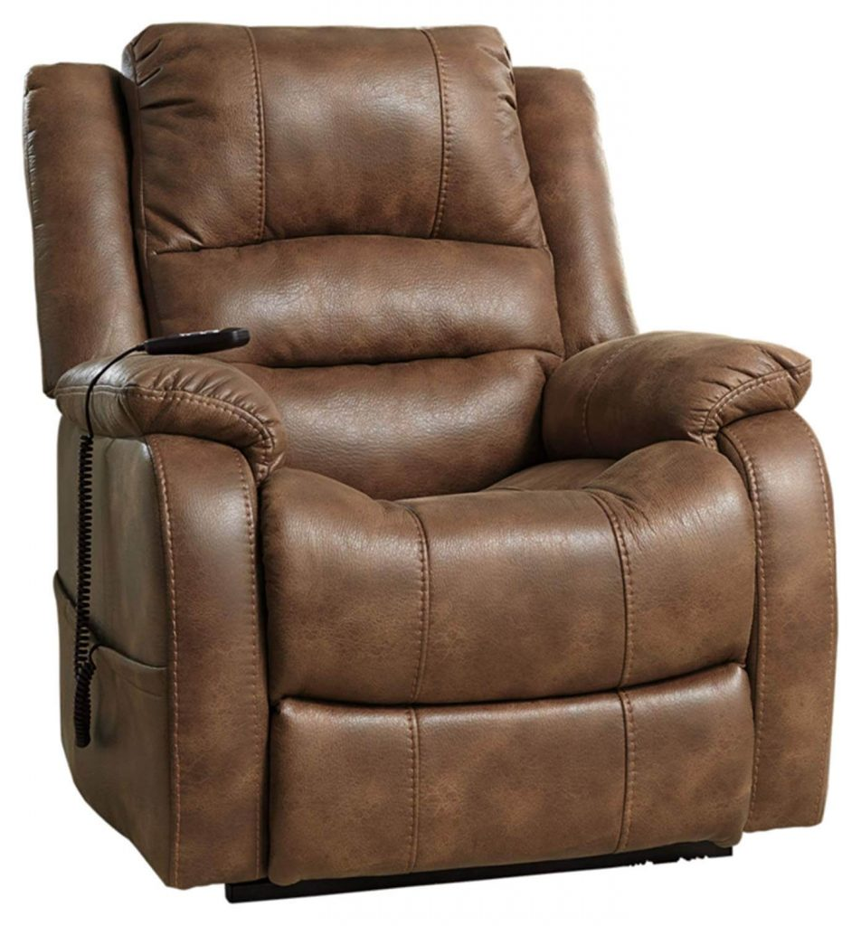 Signature Design by Ashley Yandel Power Lift Oversized Recliner for tall man
